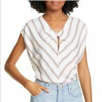 Joie Carsen Chevron Stripe Top, Size Small, NWT