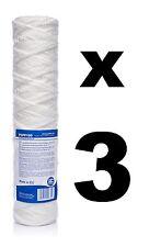 """3 x 100 Micron Sedimenti Filtro String-Wound 10"""", filtro acqua, osmosi inversa, RO"""