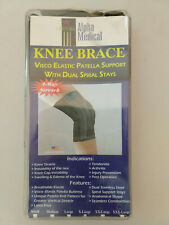 Dual Spiral Stay Knee Brace with Visco Patella Support XL