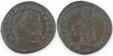 305-311 AD Roman Imperial AE Follis Coin VF+ Galerius Maximian Moneta S-3711