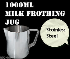 1000ml Stainless Steel Milk Frothing Jug Pitcher 1L Water Coffee Latte Art