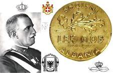 Vitt.Em.III-Albania Italiana (1940 XVIII) Lek 0,05