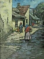 Signiert Ilona Mezey - Dorfansicht in Ungarn ?
