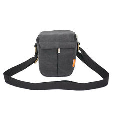 Black Canvas Camera Case Bag T036 For Sony A5000 A5100 A6000 A6300 A6500 RX1R