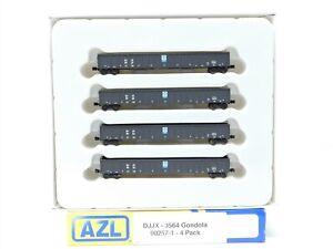 Z Scale American Z Line 90257-1 DJJX David J Joseph Gondola 4-Pack