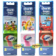Cepillo de Dientes Oral B Stages Power Heads-niños-Mickey, Cars, Princesa de Disney,