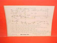 1960 DODGE DART SENECA PIONEER PHOENIX CONVERTIBLE SEDAN FRAME DIMENSION CHART
