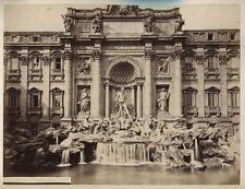 VINTAGE ALBUMEN TREVI FOUNTAIN, ROME.
