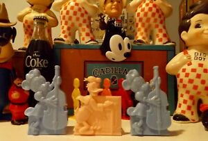 60's Disney Jazz Musician Easter Candy Container Baskets Donald / Minnie Plastic