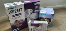 Philips Avent Natural Single Electric Breast Pump & breast shell set & Lansinoh
