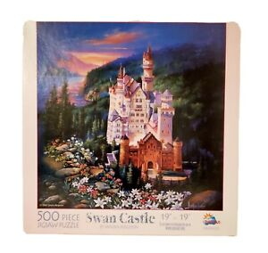 Suns Out Jigsaw Puzzle Swan Castle By Sandra Bergeron 500 Pcs Made in USA
