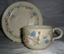 Poole Pottery Springtime Pattern Cup and Saucer made in the Style Shape
