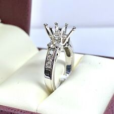 0.79 ct Diamond Semi Mount Engagement Ring in 14k White Gold