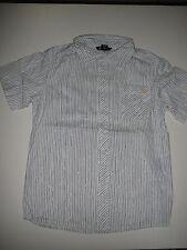 H & M tolles Hemd Gr. 146 weiß-grau gestreift mit Druckmotiv hinten !!