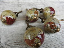 World GLOBE Travel Atlas Map Cabinet Drawer Pulls Handle KNOB