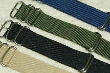 NATO G10 Divers Nylon Watch Strap18 20 22 24mm 5 Rings Bars & Tool