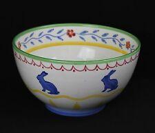 Studio Nova Old MacDonald's Farm Bunny Rabbit Handpainted Spongeware Center Bowl