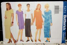 BUTTERICK SEWING PATTERN 5471 MISSES TUNIC SKIRT TOP SIZES 6-8-10 UNCUT