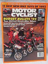 Vtg Motor Cyclist Motorcyclist Magazine March 1992 Honda NR750 Motorcycle