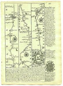 1720 Bowen Road Map Garstang Lancaster Bolton Kendal Penrith Carlisle etc