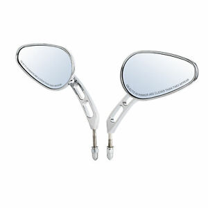 Universal 8mm Rear View Mirrors Fit For Harley Street Bob FXDB Low Rider 93-17