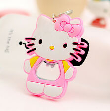 Cute  Hello Kitty Key Chain & Beer Bottle Coke Juice Beverages Opener Pink