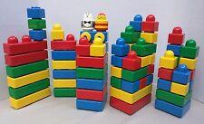 Lot of 71 Lego Duplo Duplos Primo Baby 6.7 Lbs Building Blocks Rattles Car