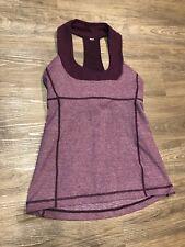 Lululemon Scoop Neck Tank 4 Workout Top Heathered Plum Purple