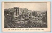 San Francisco, CA - AERIAL FROM BUSH & LARKIN 1906 EARTHQUAKE DISASTER POSTCARD