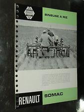 Prospectus Tracteur RENAULT BINEUSE RIZ 1960 prospekt brochure tractor traktor