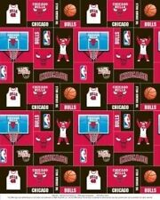 Package of Short Pieces Chicago Bulls NBA Square 012 Fleece Fabric Print D005.37