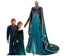 Costume Anna Frozen incoronazione abito verde regina vestito copia professionale