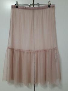 NOA NOA Net Tulle Sheer Underskirt Elastic Waist Size XL