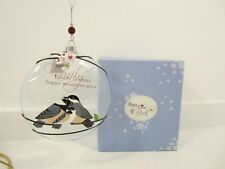 Peace, Love & Birds 52012 Family Glass Ornament by Pavillion Gifts 2010 NEW