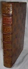 THIBAULT HISTOIRE DES LOIX ET USAGES DE LA LORRAINE ET DU BARROIS. NANCY 1763