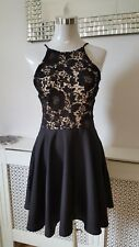 New Look Black Lace Shabby Chic Skater Dress ladies dress Size 14