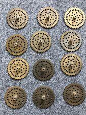 12x Märklin Metall Baukasten Kettenrad Zahnräder