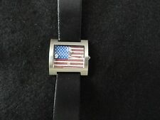 Kristine Quartz Watch with a USA Flag on the Dial