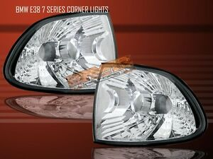 95-98 BMW E38 7SERIES 740/750 CLEAR CORNER LIGHTS 96 97
