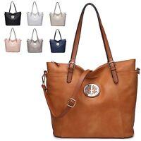 Ladies Stylish Gold Charm Shoulder Bag Designer Tote Bag Bucket Handbag M3783