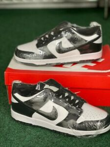 Size 9 - Nike Dunk Low Black White - DD1391-100