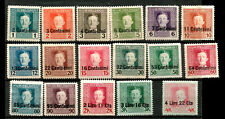1918 WWI Austrian Occupation of Italy Emperor Blessed Karl Overprint Mint Stamps