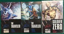 SOLDIER ZERO  & THE TRAVELLER lot of (3) (2010/2011) Boom! Stan Lee comics FINE