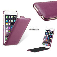 Melkco Premium PURPLE Leather Flip-Down Case for Apple iPhone 5 5S SE Jacka Type