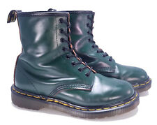 Dr. Martens Doc England Rare Vintage Green Leather 1460 Boots UK 5 US 7