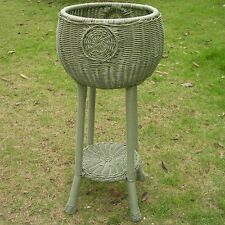 International Caravan Chelsea Round Patio Plant Stand in Antique Moss