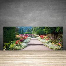 Küchenrückwand aus Glas ESG Spritzschutz 125x50cm Treppen Garten Natur