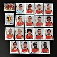 Panini FIFA World Cup Brazil 2014 Complete Team Belgium + Foil Badge
