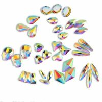 Rhinestones Gems Acrylic flat back diamante hearts stars shaped 3d nail art bead