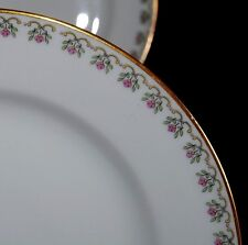 ANTG GDA GERALD DUFRAISS & ABBOT LIMOGES FRANCE LOT OF 4 LUNCHEON PLATES FLORAL